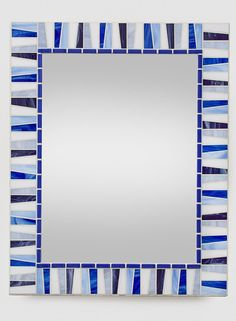 Custom Wall Mirror  Stained Glass Mosaic by opusmosaics on Etsy