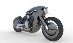 A new amazing classic and retro-futuristic Harley Davidson motorcycle concept,