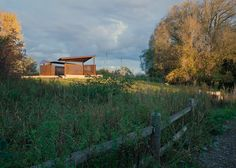 Bird-watching pavilions by Plant Architect made of weathering steel