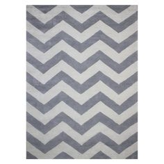 Circo Chevron Area Rug Grey And White