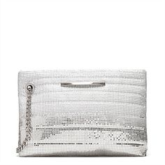 #mimco Between The Lines Pouch in SIlver