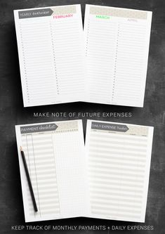 Finance Planner PRINTABLE Budget Planner by IndigoPrintables