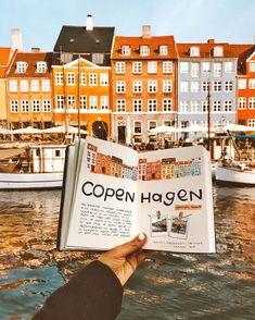 How to Spend 2 Days in Copenhagen, Denmark - Kaylchip Bullet Journal Travel, Bullet Journal Ideas Pages, Bullet Journal Inspiration, Travel Inspiration, Voyage Sketchbook, Travel Sketchbook, Scrapbook Journal, Travel Scrapbook, Copenhagen Travel