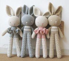 Mesmerizing Crochet an Amigurumi Rabbit Ideas. Lovely Crochet an Amigurumi Rabbit Ideas. Bunny Crochet, Crochet Baby Toys, Crochet Patterns Amigurumi, Cute Crochet, Crochet For Kids, Crochet Crafts, Crochet Dolls, Crochet Projects, Stuffed Toys Patterns