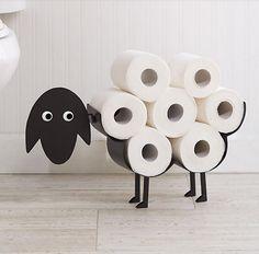 New Novelty Black Sheep Bathroom Toilet Roll Holder Tissue Storage Free Standing Toilet Roll Holder Black, Loo Roll Holders, Paper Roll Holders, Toilet Roll Holder Storage, Toilet Paper Roll Holder, Toilet Paper Storage, Wc Decoration, Toilet Room, New Toilet