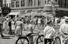 "July 4, 1941. ""Fourth of July parade in Watertown, Wisconsin."" 35mm nitrate negative by John Vachon"