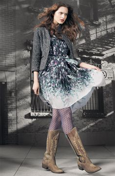 Suzi Chin for Maggy Boutique Collared Illusion Yoke Dress #Nordstrom