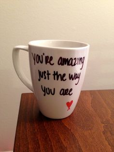 Bruno Mars Just The Way You Are lyric mug. $15.00, via Etsy.