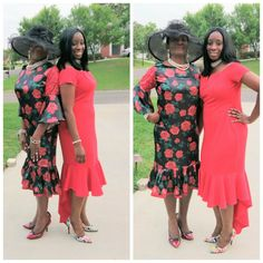 Sew Virtuous Designs Mama and Daughter Fashion 2018, Dress Fashion, African Dress, Cold Shoulder Dress, Daughter, High Neck Dress, Sewing, Turtleneck Dress, Dressmaking