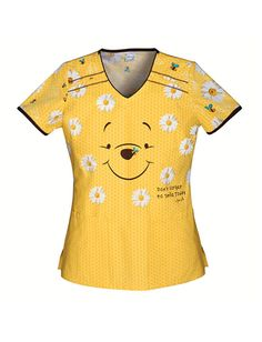 Smile Today Winnie the Pooh V-Neck Scrub Top Size Small. Love this one but it is becoming hard to find.