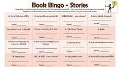 A reading bingo game to encourage children to read a variety of texts in line with the 2014 curriculum. Reading Bingo, Teaching Reading, Bingo Story, Book Corners, Author Studies, Lesson Plans, Curriculum, Books To Read, Texts