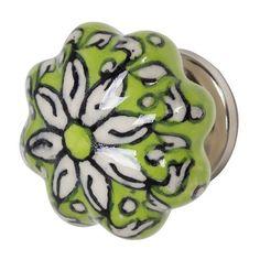Ceramic knob- green