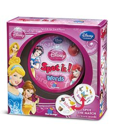 Loving this Spot It! Disney Princess Words Game on #zulily! #zulilyfinds
