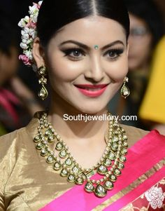 Urvashi Rautela in Meenakari Polki Jewellery photo