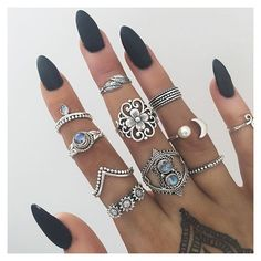 Instagram media by bohomoon - Sterling silver rings // bohomoon.com ✔️
