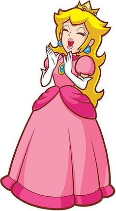 Cheerful Peach official artwork Super Princess Peach