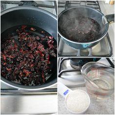 Cómo hacer agua de Jamaica www.pizcadesabor.com