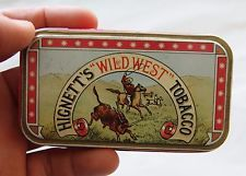 "vintage tobacco tin hignett´s ""wildwest"" tobacco 4"""