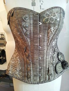 Custom silk steampunk corset