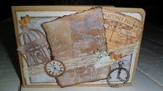 Bij de tijd kaart vintage
