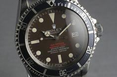 1972 Rolex Double Red Sea Dweller (DRSD) Mark II - http://grail-watch.com/2014/03/20/1972-rolex-double-red-sea-dweller-drsd-mark-2/