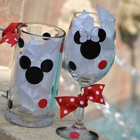 Mickey and Minnie Wine and Beer Mug