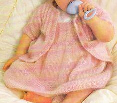 Layette: robe et gilet
