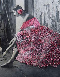 Dança Ellen Moylan- by artista chileno Jose Romussi tornou-se conhecido por suas impressões bordado via vsemart.com