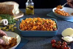 Real Food Kitchen Vegetarian Protein, Vegetarian Recipes, Salmon Pasta Bake, Beef Barley, Milk Ingredients, Wheat Pasta, Real Food Recipes, Yummy Recipes, Meatless Monday