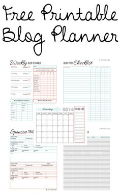 A free printable blog planner - need this!