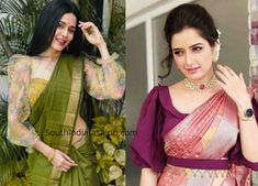 New Blouse Designs 2019 - Latest silk saree blouse designs Here are a few handpicked trending new blouse design 2019 which are suitable for your classic pattu sarees. Stylish Blouse Design, Silk Saree Blouse Designs, Fancy Blouse Designs, Blouse For Silk Saree, Saris, Seda Sari, Latest Silk Sarees, Outfit Invierno, Trendy Sarees
