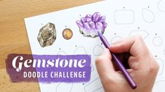 Gemstone Doodle Challenge by Sea Lemon You Doodle, Doodle Art, Drawing Challenge, Art Challenge, Science For Kids, Art For Kids, Lemon Drawing, Free Doodles, Lemon Art