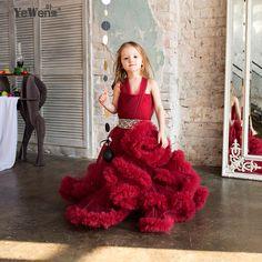 Nuage petite fleur filles robes pour les mariages robes de Partie de Bébé sexy enfants images Robe enfants robes de bal robes de soirée 2016