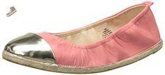 Nine West Women's Quotie Leather Ballet Flat, Pink Orange/Light Gold, 5 M US - Nine west flats for women (*Amazon Partner-Link)