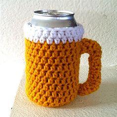 Beer Mug Beer Sweater- Handmade Crochet Drink Cozy Crochet Mug Cozy, Crochet Gifts, Crochet Yarn, Hand Crochet, Free Form Crochet, Crochet Patterns, Crochet Kitchen, Crochet Accessories, Yarn Crafts