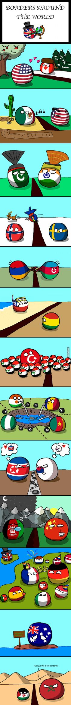 Countryball borders