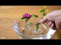 Piccolo, Clever Vasi creano l'illusione di fiori galleggianti in acqua - DesignTAXI.com