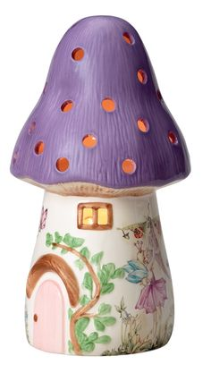 Nightlight mushroom Dewdrop in lilac - Buy a Nightlight mushroom Dewdrop in lilac from White Rabbit England - Childrens night lights and lamps -