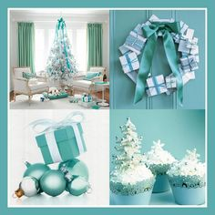Blue CHRISTMAS DECORATIONS..yesss my upstairs will be blue magical themed this year. Downstairs country plaid
