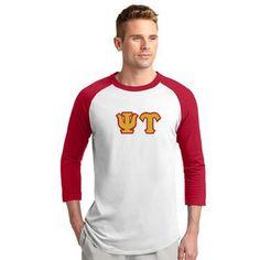 Psi Upsilon Fraternity Raglan Baseball Tee - Sport-Tek T200 - TWILL
