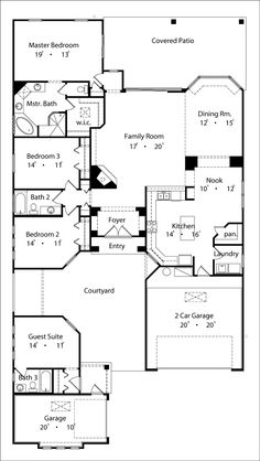 Mexican House Plans with Courtyard | hacienda style house plans | z ...