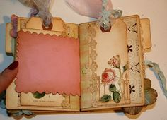 Shabby Beautiful Scrapbooking: Shabby Garden fairy Mini File Folder Album