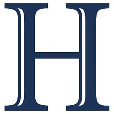 Madison Wall Letters, Navy, H