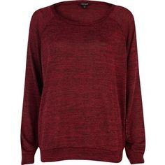 $16 originally $29 River Island Red marl slouchy oversized top
