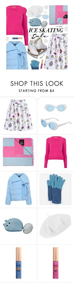 """Skate Date: Ice Skating Outfit"" by beebeely-look ❤ liked on Polyvore featuring Gucci, WearAll, Peter Hall & Son, Betmar, Forever 21, casual, iceskating, winterstyle, iceskatingoutfit and gamiss"