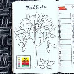 Bullet journal mood tracker, Autumn bullet journal theme, Autumn drawings. . . #buju #bulletjournal #moodtracker #planner #planning #planners #organization #journal