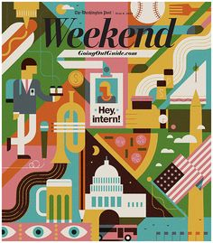 illustrated cover for Weekend Guide of The Washington Post / by MUTI