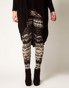 ASOS Leggings in Cable Knit Print