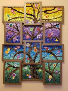 Such a cool idea — to make a combined quilling panel