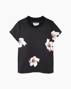 Charles Anastase James Dean Floral Neoprene T-shirt | La Garçonne